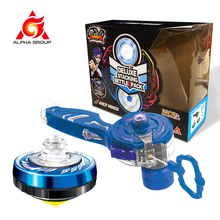 Gyro Infinity Nado 5 Series DELUXE BATTLE SET Dual Metal Rings LED Light Stacking Spinning Top Kids Beyblade Toys with Launcher