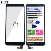 5.3'' Mobile Touch Screen For Alcatel 1X 5059D 5059 Touch Screen Glass Sensor Panel glass For Alcatel 1X 5059D cell Tools(China)