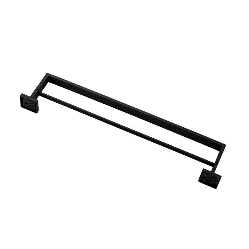 Новый настенный держатель для полотенец для ванной комнаты SUS 304 из нержавеющей стали матовый черный двойной держатель для полотенец аксессуары для ванной комнаты