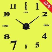 Amazon Горячая гостиная креативные настенные часы акриловые часы «сделай сам» минуты Европейский стиль настенные декоративные наклейки часы