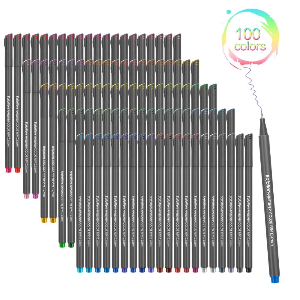 Art Markers Fineliner Pen Sketch Needle Hand Drawing Pigma Water-Based Graffiti 12 24 36 48 <font><b>60</b></font> <font><b>100</b></font> Colors Fine Line Hook Drawing image