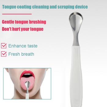 Stal nierdzewna język powłoka szczotka do czyszczenia oddech odświeża ustny skrobaczka do języka Cleaner język jamy ustnej powłoka szczotka do czyszczenia tanie i dobre opinie VKTECH CN (pochodzenie)
