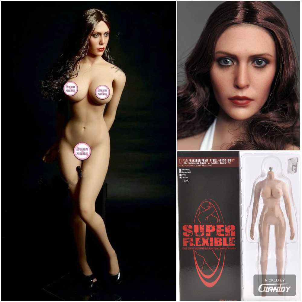 1/6 TBLeague Female 12in Figure Large Bust Body + W/Scarlet Witch Head Sculpt title=