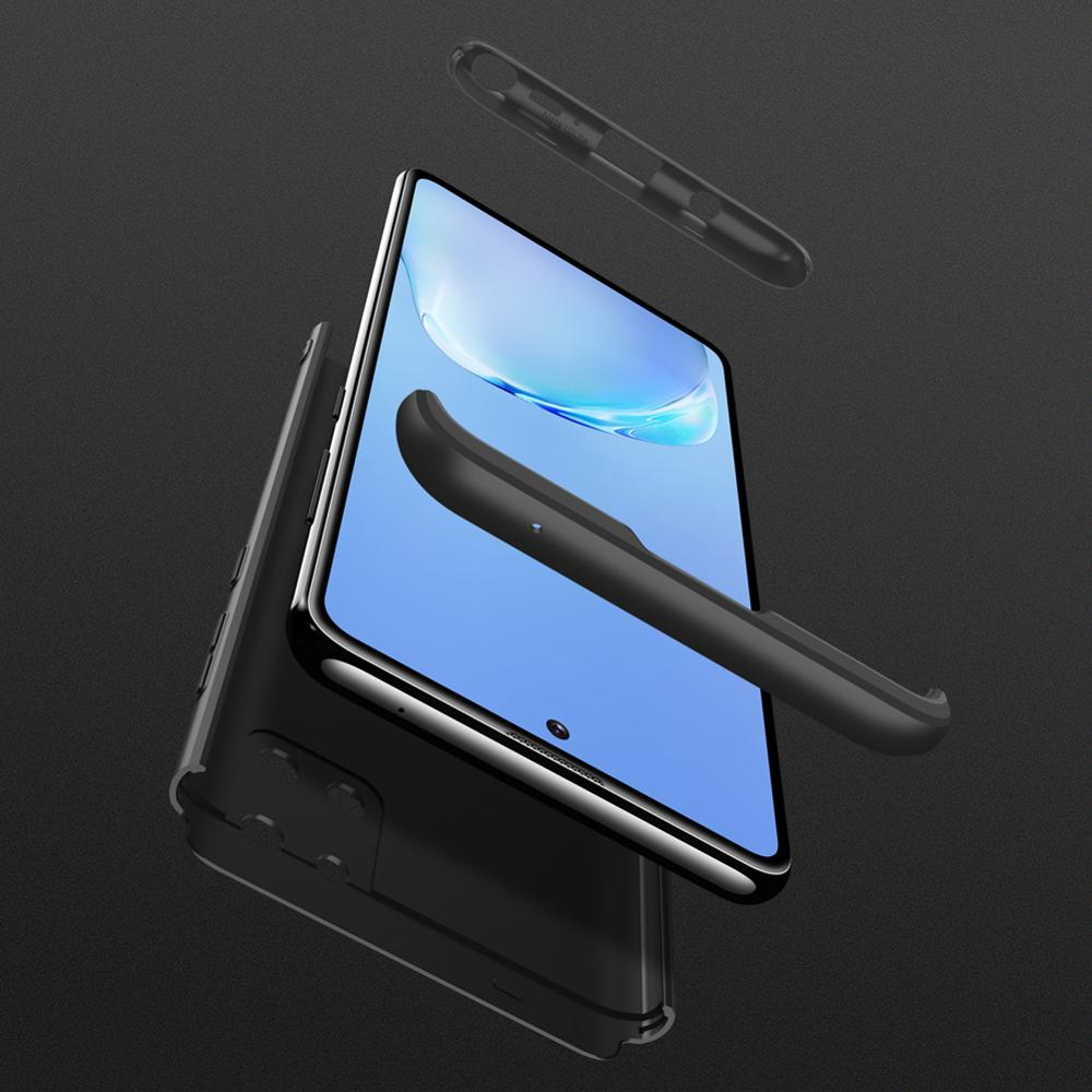 Slim Case for Samsung Galaxy Note 10 Lite Case 360 Full Protection Anti-knock 3 in 1 Matte Hard PC Cover for Galaxy Note 10 Lite