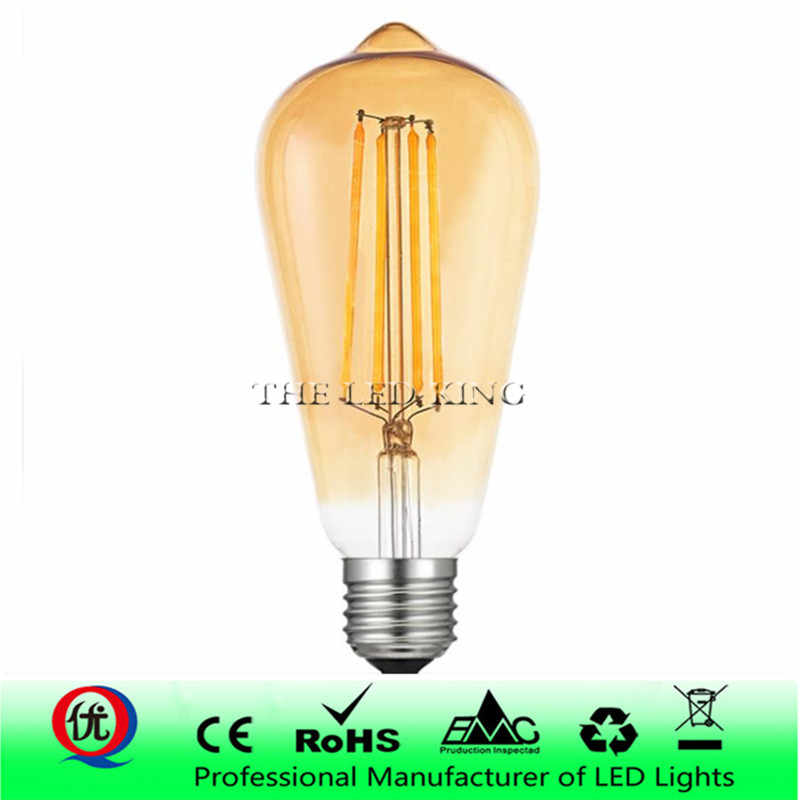 LED Candle Bulb E14 Vintage C35 C35L Filament Light Bulb E27 LED Edison Globe Lamp 220V st64 Glass 2W 4W 6W 8W DIMMABLE