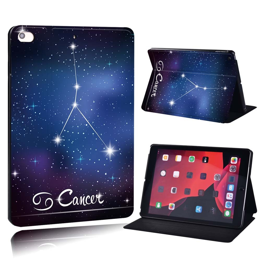 star sign - Cancer Black For Apple iPad 8 10 2 2020 8th 8 Generation A2428 A2429 PU Printed Star Sign