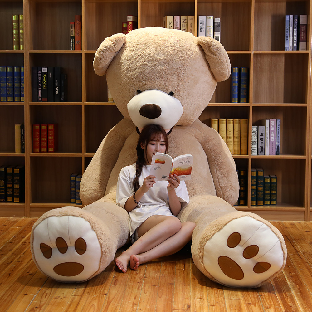 Hot 340cm Lovely Giant American Bear Plush Toys Stuffed Animals Teddy Doll Pillow Kids Girls Popular Valentine Birthday Gift