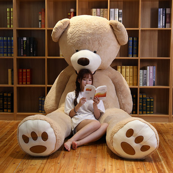 цена на Hot 340cm Lovely Giant American Bear Plush Toys Stuffed Animals Teddy Doll Pillow Kids Girls Popular Valentine Birthday Gift