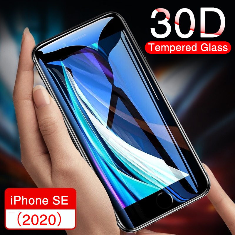 30D Full Cover Tempered Glass On The For IPhone SE 2020 7 8 6 6S Plus Screen Protector Film For IPhone 11 Pro X XR XS Max Glass