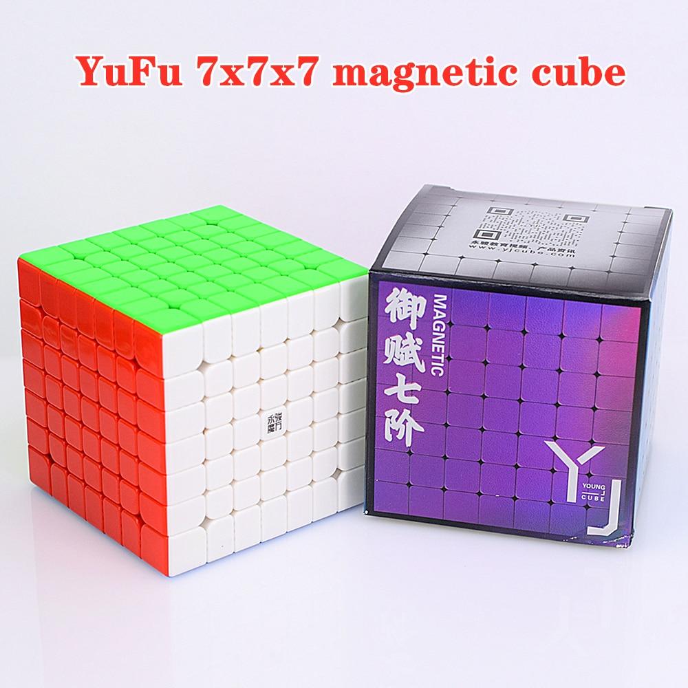 Yongjun YuFu M Magnetic 7x7x7 speed cube 7x7 puzzle cube 7x7x7 magic cube YJ Competition Cubes 2x2 3x3 4x4 5x5 6x6 cubo magico