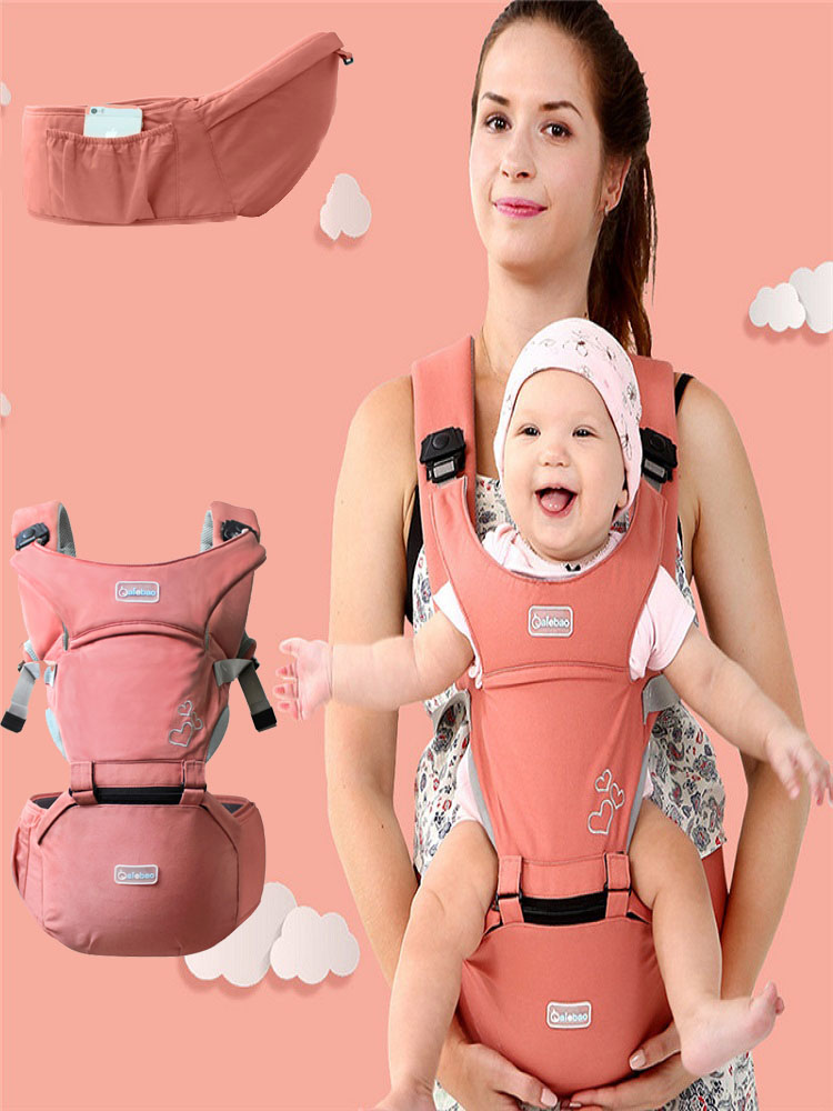 Baby Sling Front Hug Waist Stool Holding Belt Carrier Porte Bebe Ergonomique Kangaroo Hip Seat Versatile For The Four Seasons