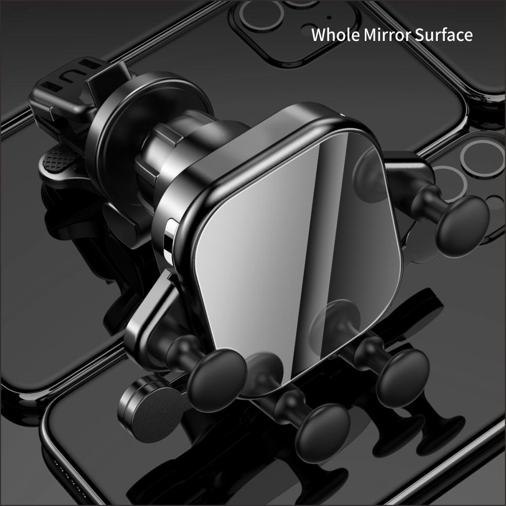 Image 4 - 15W QI Car Wireless Charger induction usb mount Automatic  Clamping QC3.0 Fast Wirless Charging For iphone 11 pro Samsung SIKAICar  Chargers