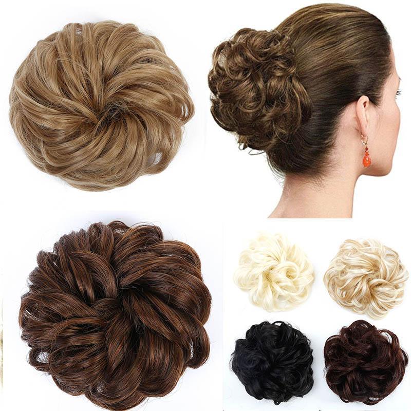 MUMUPI Hair Extensions Wavy Curly Messy Hair Bun Extensions Donut Hair Chignons Hair Piece Wig Hairpiece Headwear