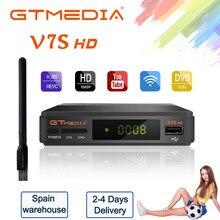 GTMedia V7S HD Satellite TV Empfänger Volle HD 1080P DVB-S2 BOX Mit USB WIFI Youtube Unterstützung Europa spanien ccam pk Freesat V7