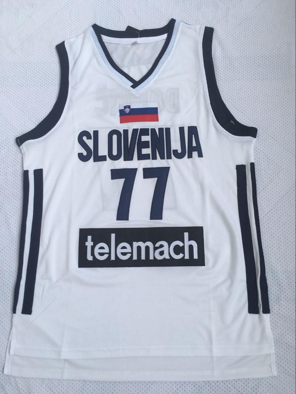Mens #77 Luka Doncic Jersey Cheap Throwback Basketball Jersey Slovenija Team Retro Stitched Shirts BASKET Sports JERSEYS