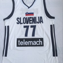 Mens #77 Luka Doncic Jersey Cheap Throwback Basketball Jersey slovenija Team Ret