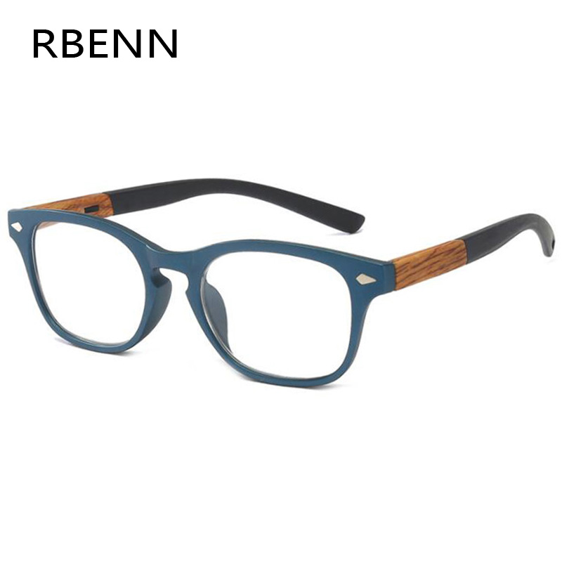 RBENN Wood-Grain-Reading-Glasses Diopter Eyegalsses Presbyopia Women Fashion Male