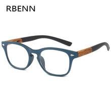 RBENN – lunettes de lecture à Grain de bois pour hommes et femmes, verres de presbytie, à la mode, dioptrie + 1.25 1.75 2.75 3.75 4.5 5.0 6.0