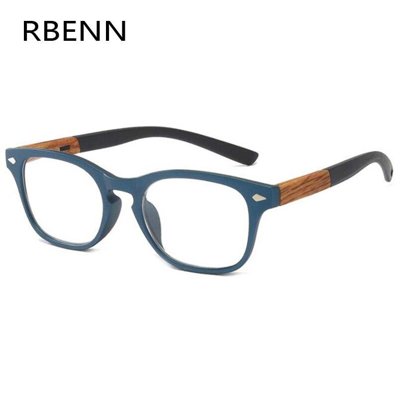 Rbenn óculos de leitura com grão de madeira, de presbiopia, unissex e feminino, dioptria + 1.25 1.75 2.75 3.75 4.5 6.0