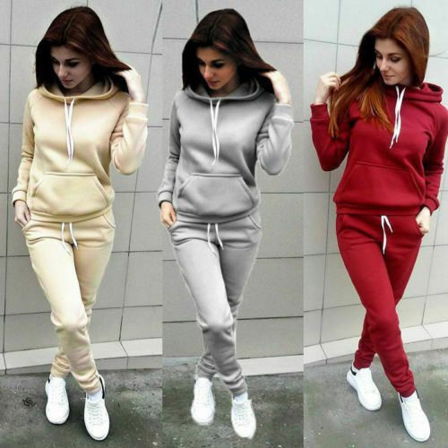 2019 New Woman's Sweatshirt 2pcs Women Ladies Tracksuit Hoodies Sweatshirt Females Pants Sets Sport Wear Casual Suit New