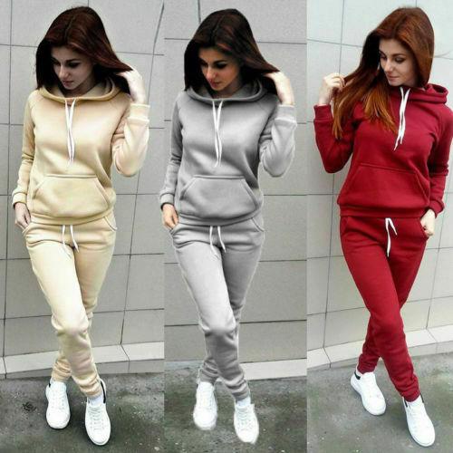 2019 New Woman's Sweatshirt 2pcs Women Ladies Tracksuit Hoodies Sweatshirt Females Pants Sets Sport Wear Casual Suit New