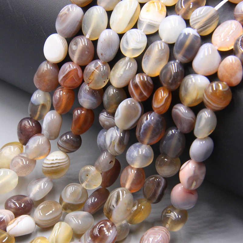 Natural de Botswana oval piedra cuentas de ágata al por mayor Irregular libre 6-10mm ágatas naturales cuentas de piedra sueltas para la fabricación de la joyería