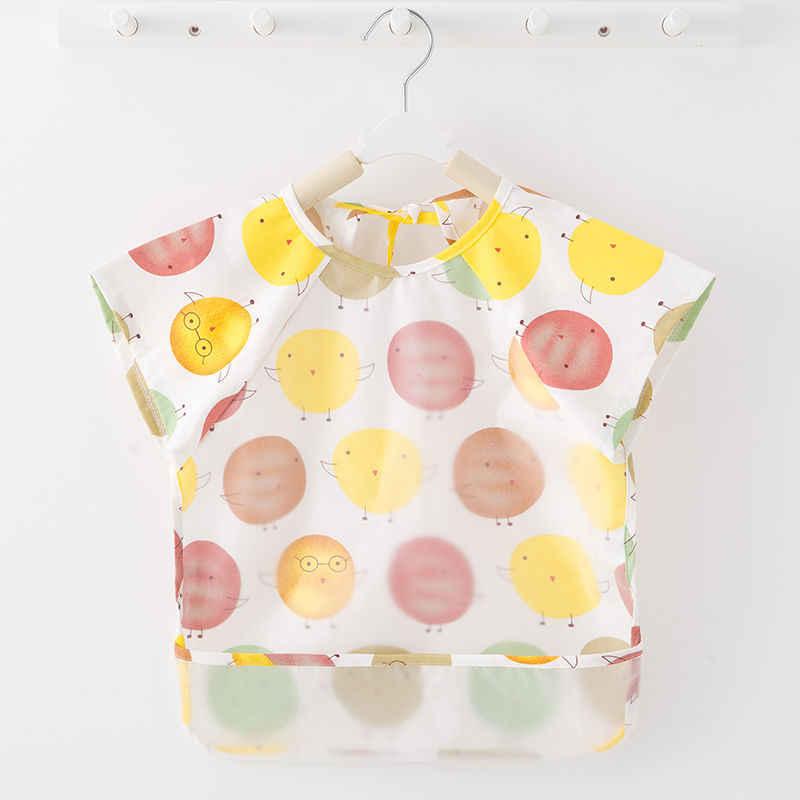 Bawełniane, wodoodporne, krótkie rękawy na szelkach potrawy dla dzieci, mężczyźni i kobiety, niemowlęta i dzieci, anty-sukienka, letnia kieszeń na karmę