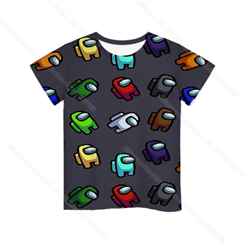 Cartoon Tee  Baby Kids Boys Girls Children Short Sleeves Summer Clothing Fashion 3d Print Toddler Camiseta 21