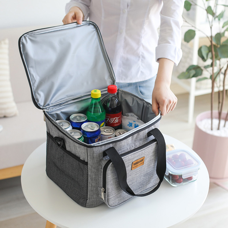 Portable Thermal Cooler Bag Picnic Food Beverage Drink Fresh Keeping Organizer Insulated Lunch Box Zipper Tote Accessories Case