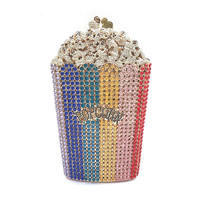 Chaliwini Designer popcorn Evening Bags Luxury Crystal Party Purse Wedding Bags Colorful Clutch Bags