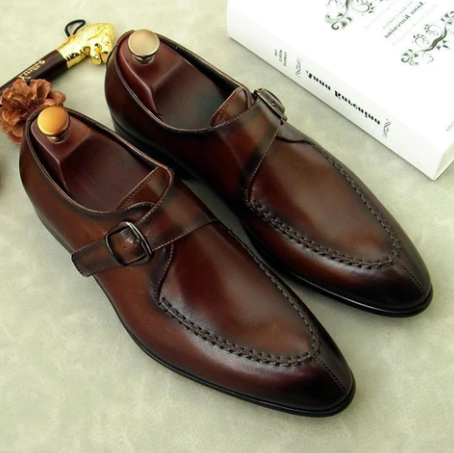 Men Pu Leather Shoes Low Heel Fringe Shoes Dress Shoes Brogue Shoes Spring Ankle Boots Vintage Classic Male Casual F121