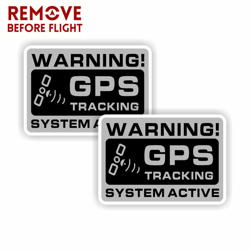 1 Pair Mini GPS Vehicle Car Alarm Security Caution Warning Decal Sticker