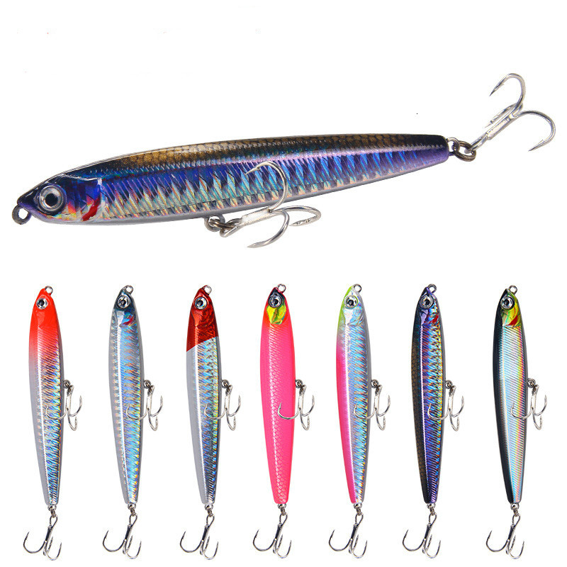 10g 14g 19g 24g 80mm Floating Pencil Sinking Fishing Lure Minnow Wobblers Hard Hardbait Wobbler Bait Forfishing Fishing Tackle