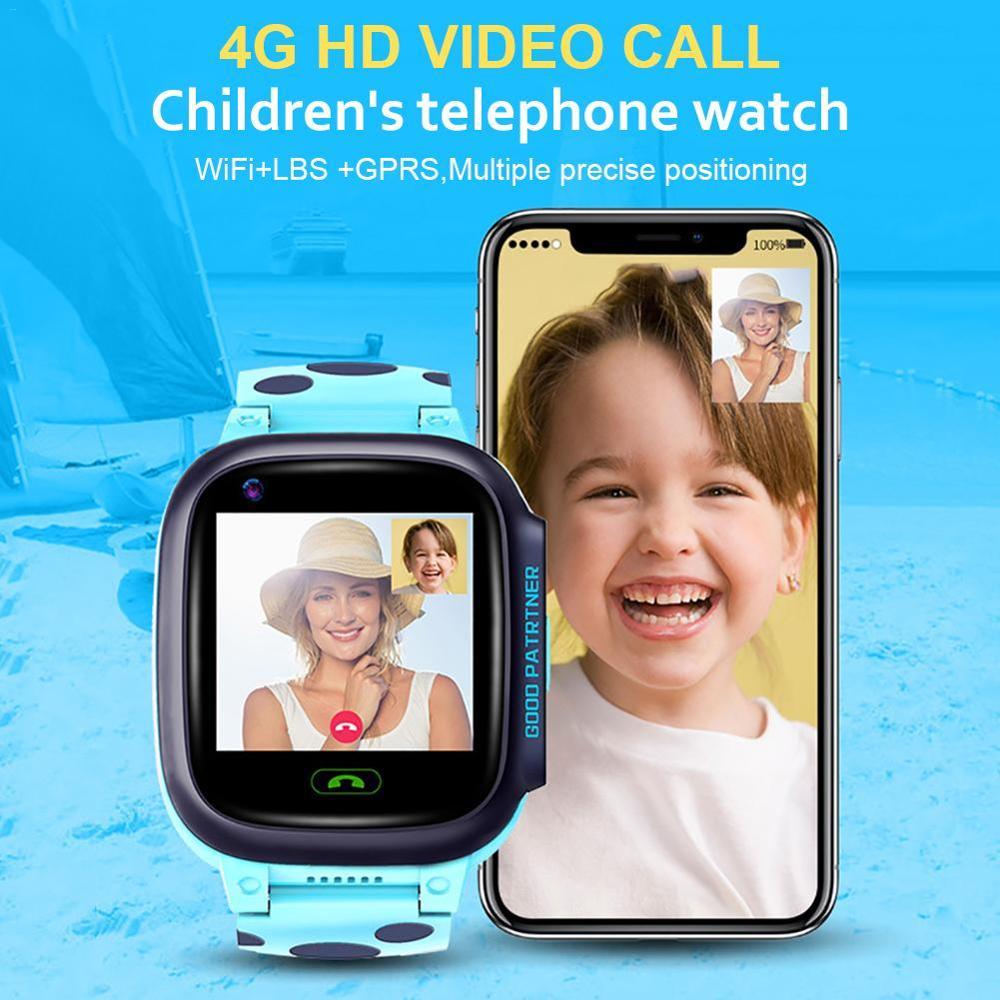 Vwar 4G Children Smart Watch HD Video Call GPS Wifi Positioning SOS Kids Smartwatch with Camera Child Baby Waterproof Watch A36E