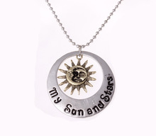 Game Of Thrones Moon My Life Necklace Sun And Stars Pendant Fashion Jewelry Gift