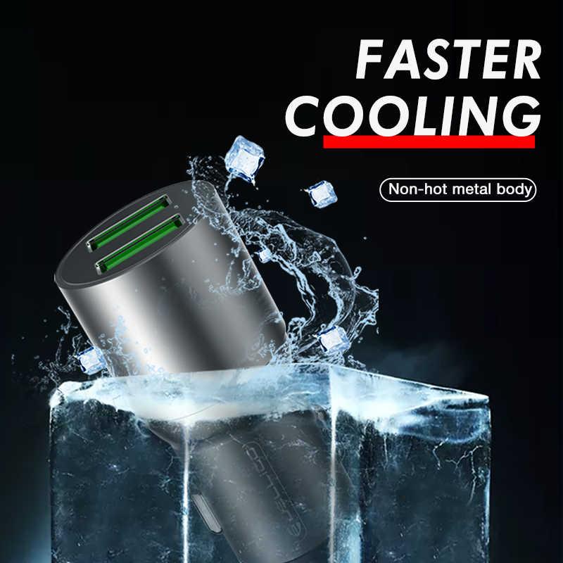 Jellico 30W 2 พอร์ต USB Quick Charge QC 3.0 สำหรับ iPhone XR XS สูงสุด 8 Samsung S10 โทรศัพท์มือถือ Fast Car Charger