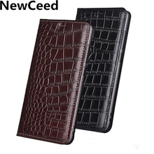Genuine Leather Magnetic Handmade Phone Case For Samsung Gal