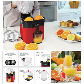 Fast Double Juicer 90W Electric Lemon Orange Fresh Juicer With Anti-drip Valve Citrus Fruits Squeezer Household 220V Sonifer 4