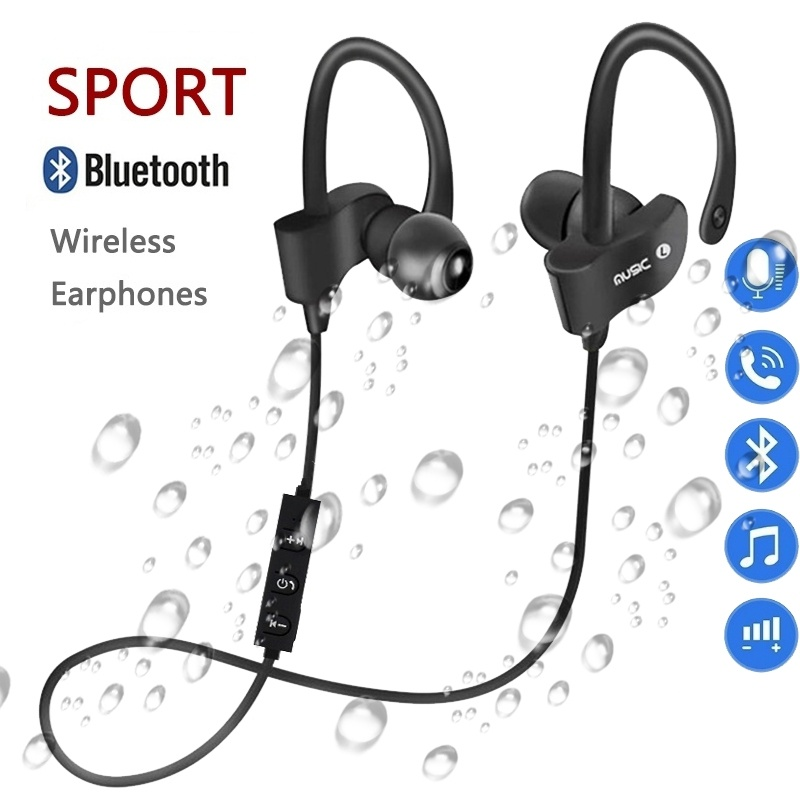 Bluetooth Earphone Earloop Earbuds Stereo Bluetooth Headset Wireless Sport Earpiece Handsfree With Mic For Xiaomi All SmartPhone