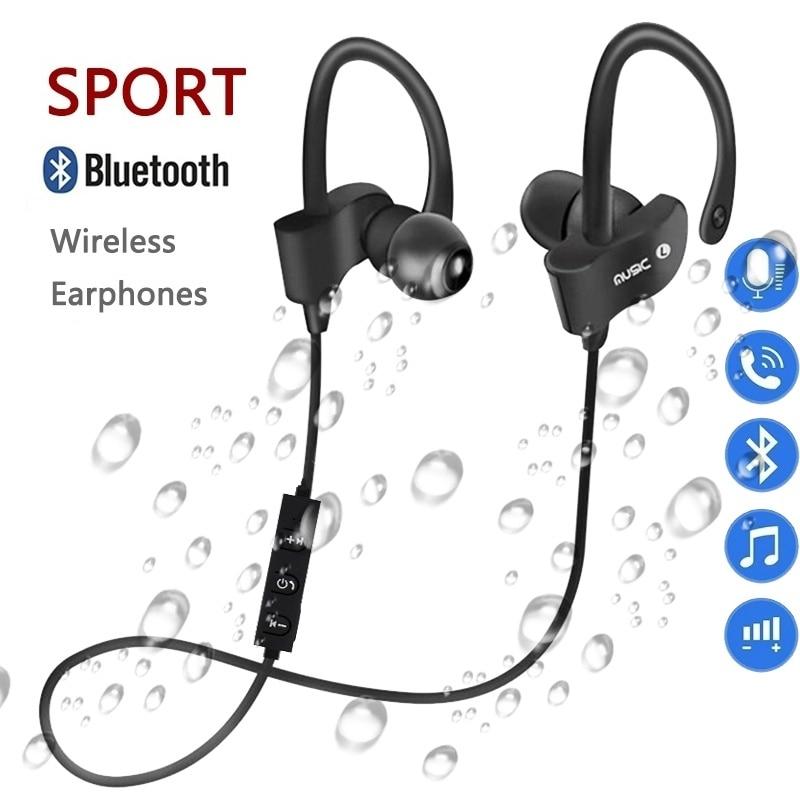 Bluetooth Earphone Earloop Earbuds Stereo Bluetooth Headset Wireless Sport Earpiece Handsfree With Mic For Xiaomi All SmartPhone