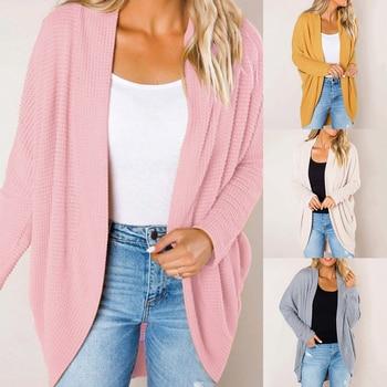 цены Winter Knitwear Cardigan  Autumn Solid Loose Knitted Sweater Streetwear Casual Sweaters Women 2019 Casual New Jumper Coat Female