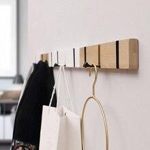 Gancho de madera para la pared ganchos retro colgador Almacenamiento de ropa gancho oculto colgante decoración para el hogar colgador perchero