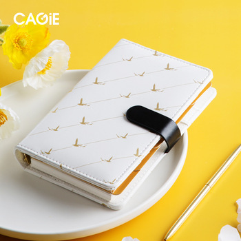 цена на Planner A6 Binder Notebook Journal Cute Notepad Bird Diary Note Book Line Agenda Organizer 6 Ring Spiral Handbook School Notepad