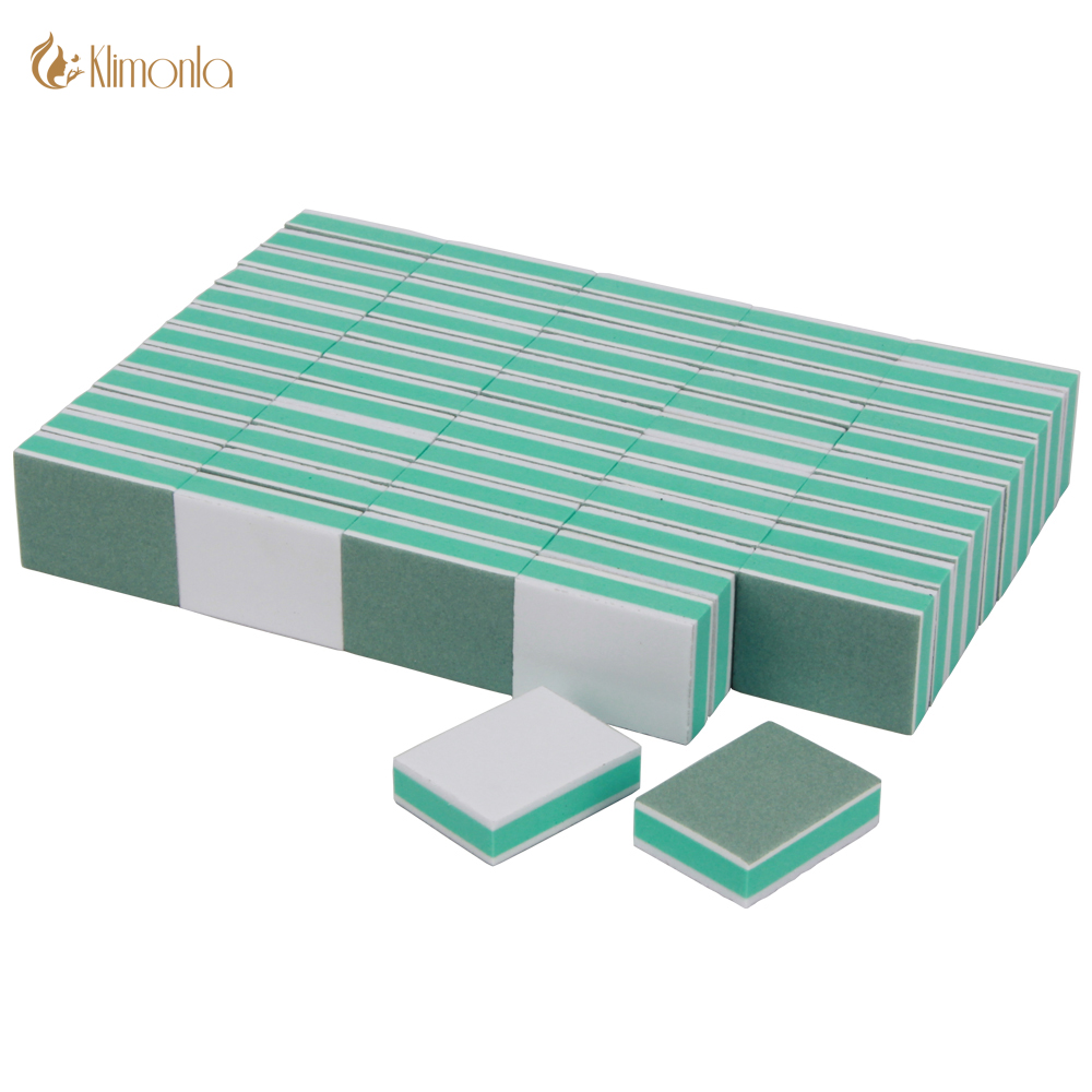 50Pcs/Lot Professional Sponge Nail Buffing Sanding Files Block 400/3000 Grit Nail Art Care Pedicure Tips DIY Salon Supplier