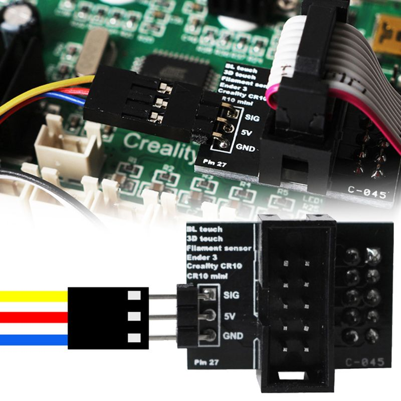 Pin 27 Breakout Board For Creality Ender Cr-10 BLTouch Filament Sensor COMPLETE