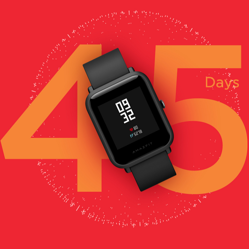 Image 3 - Amazfit Bip Lite Smart Watch 45 Days Battery Life 3ATM Water  resistance Activity Healthy Tracking Smartphone Apps NotificationsSmart  Watches