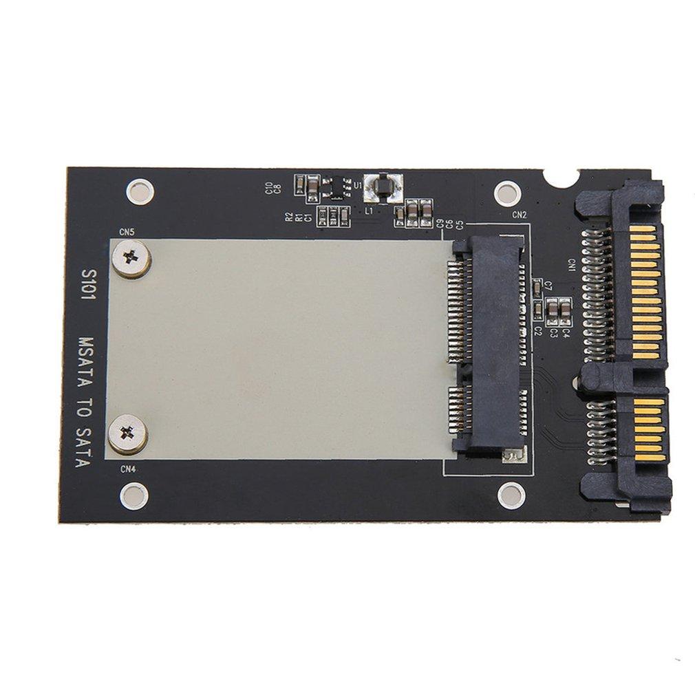 S101 Solid State Drive Transfer Box MSATA To SATA III 2.5 Inch SSD Aluminum Hard Disk Box SSD Adapter Card