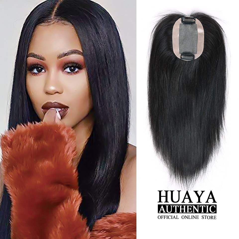 HUAYA Top Of Head Hand-made Half Head Wig Natural Fluffy Invisible Replacement Synthetic Hair Piece  Women's Hair Accessories