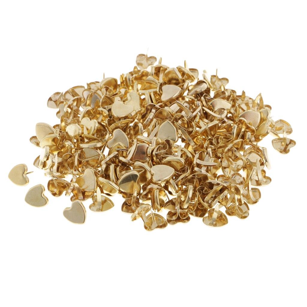 Healifty 200 St/ücke Mini Brads Metall Stern Brad Papierverschluss f/ür Scrapbooking Handwerk DIY Papier 14Mm Gold