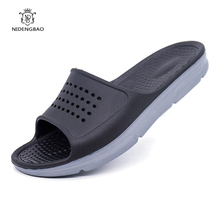 Hot Sale Summer EVA Slippers Men Sandals Fashion Hollow Out Breathable Beach Slippers Flip Flops for Male Big Size 36-49